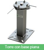 Torre con base piana
